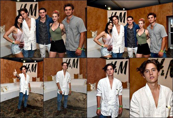 * 15/04/2017 : Cole et le cast de Riverdale se sont rendus à Los Angeles pour le festival Coachella. *