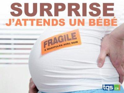 surprise j'attends un bebe
