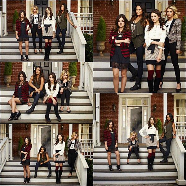 . (Re)Découvre les photos promotionnelles de la saison 4 de Pretty Little Liars.  Comment tu trouves les photos ?   .