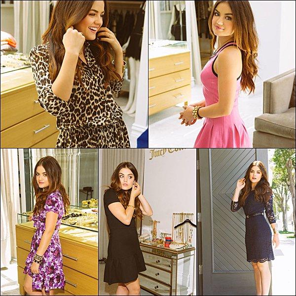 . 2013 Lucy posant pour le magasine Juicy Couture  Comment trouves-tu sa tenue ?  .
