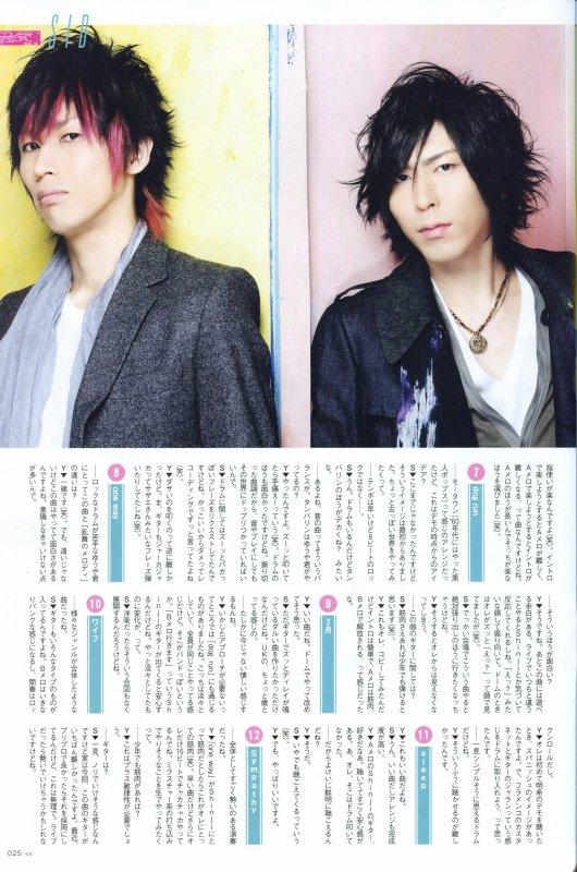 φ(.. ) ~ Dead stock interview ~ What's in (Février) -- Shinji X Yûya