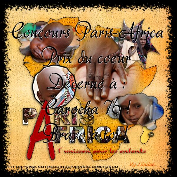 défi PARIS AFRICA contre la famine en Afrique