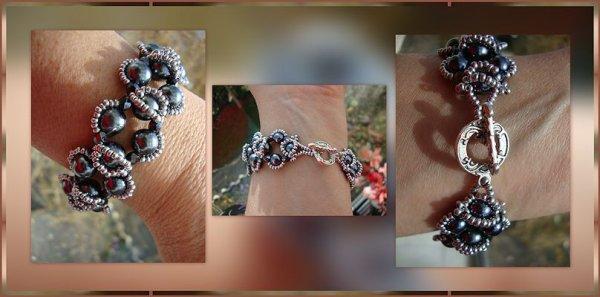 collier double rang en perles rayher hématite