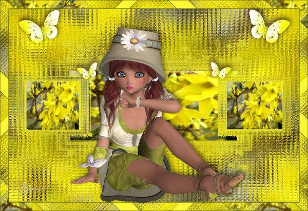 vos magnifiques versions de mon tuto : Le printemps est arrivé..suite1