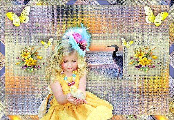 vos magnifiques versions de mon tuto : Le printemps est arrivé..suite2
