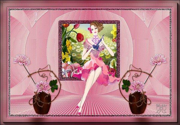 Mes versions du tuto de Caroline : La Belle aux Fleurs