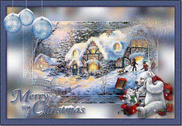 vos magnifiques versions de mon nouveau tutoriel : Merry Christmas