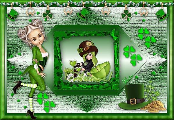 Vos magnifiques versions de mon tuto : St Patrick suite 1
