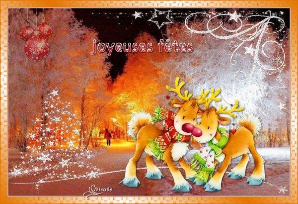 Mon nouveau tutoriel ; Joyeux Noël vos versions avec animation