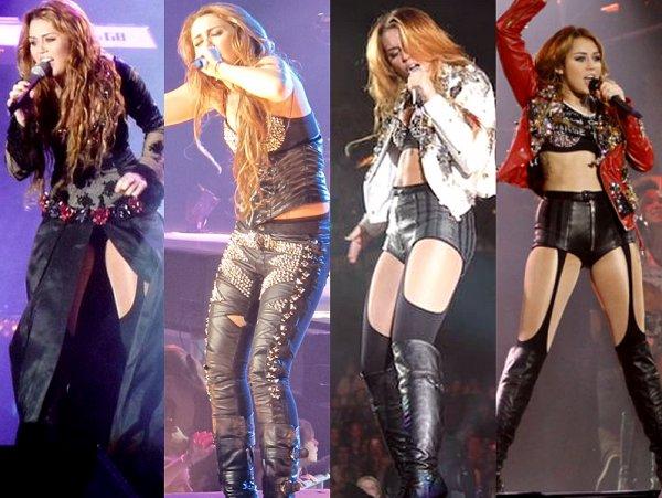 Miley Cyrus et Selena Gomez en tournée