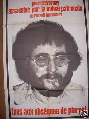 25 février 1972 : mort de Pierre Overney