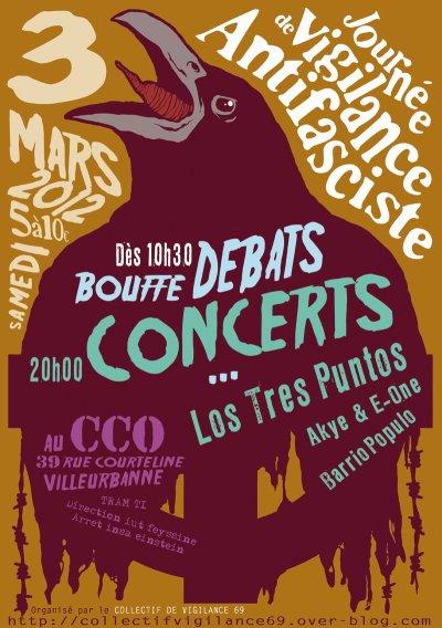 Concert à Villeurbanne le 03 mars 2012