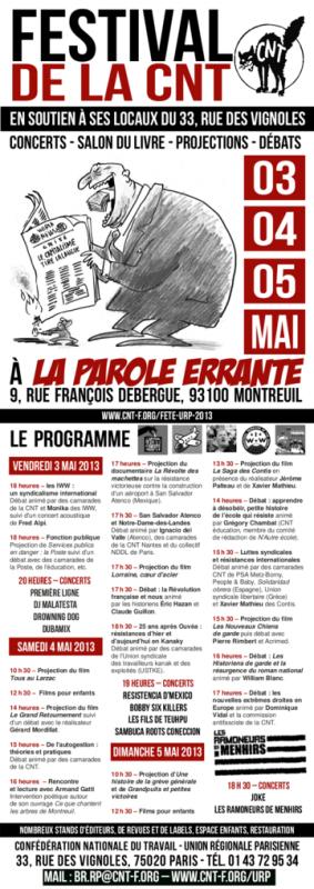 Fête de la CNT région parisienne