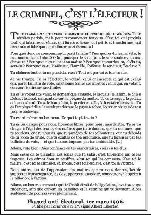 LE CRIMINEL, C'EST L'ÉLECTEUR !