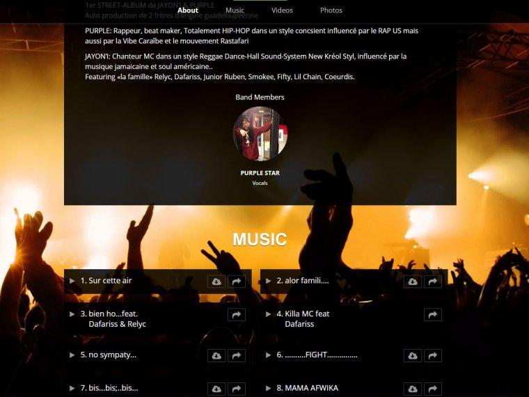 notre site web avec tout les sons & videos