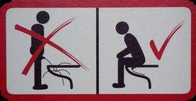 Pourquoi les mecs pissent-ils à côté de la cuvette ? :o