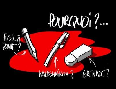 Tués pour des coups de crayon