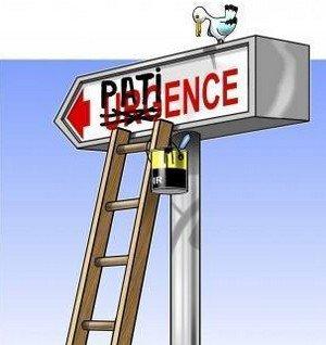 Urgences ou patience ?