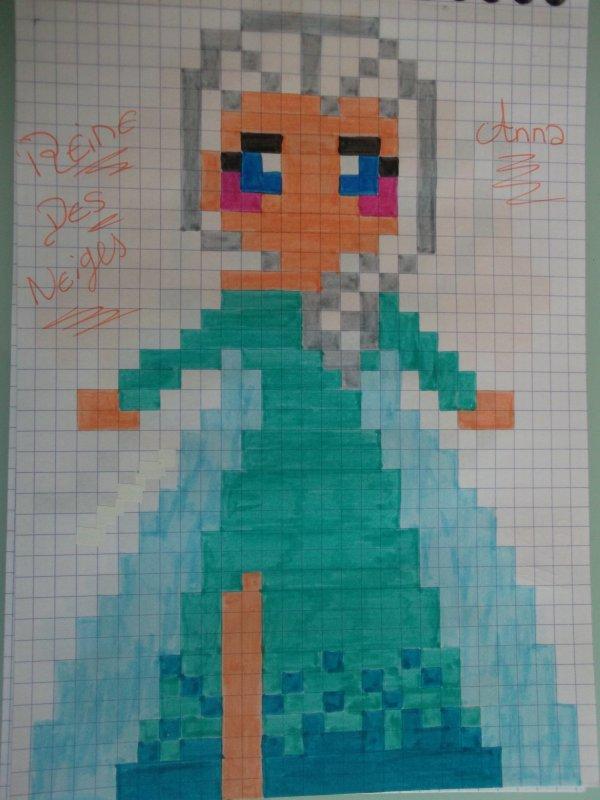 Dessin Pixel Princesse