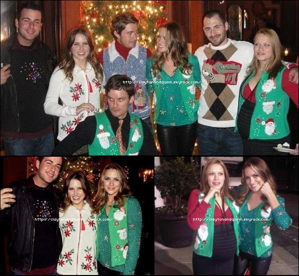 le cast de OTH célebrant  noël avant l'heure, le 11 décembre dernier.