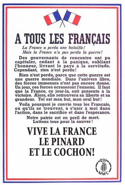 appel aux français!