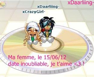 xCrazyGirl-, ma femme, et amour éternel ♥ !