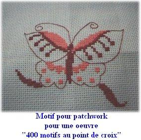 Eléments de patchwork pour un marché de Noël