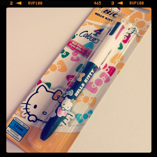 Stylo 4 couleurs hello kitty - Hello kitty couleur ...