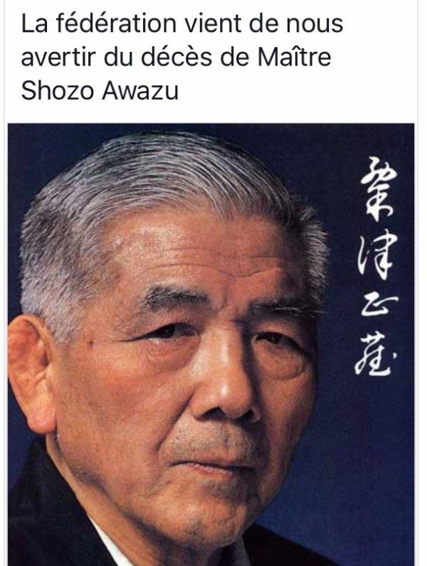 Décès de Maître Awazu 9ème dan