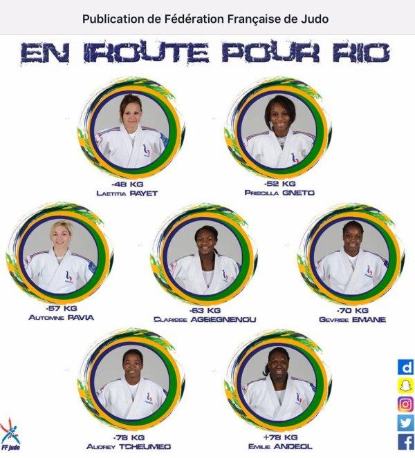 RIO 2016 sélection olympique