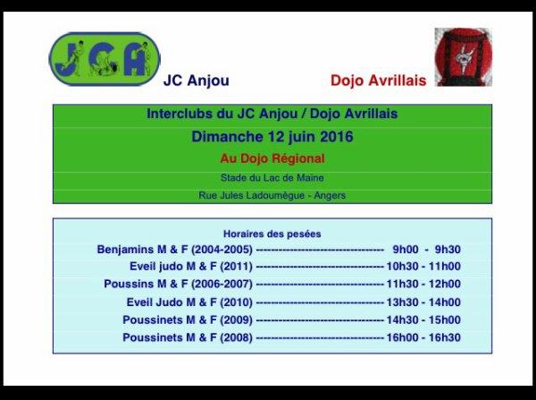 Interclubs dimanche 12 juin