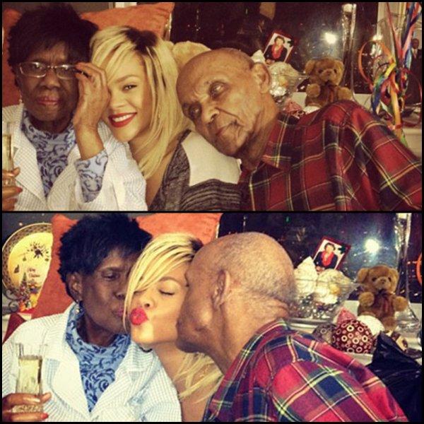 """La grand-mère de Rihanna """"grangran Dolly"""" est décédée hier samedi 30 juin des suites d'un cancer.  La famille Fenty est en deuil on leur souhaite beaucoup de courage ."""