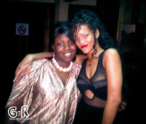 Rihanna partying in Barbados