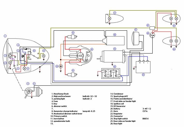 Schéma électrique M72 / K750 / R71