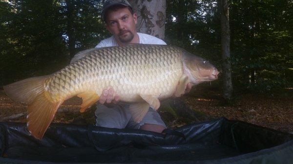 Nouvelles billes c'est reparti en grand lac. 1er fish. Combat en puissance