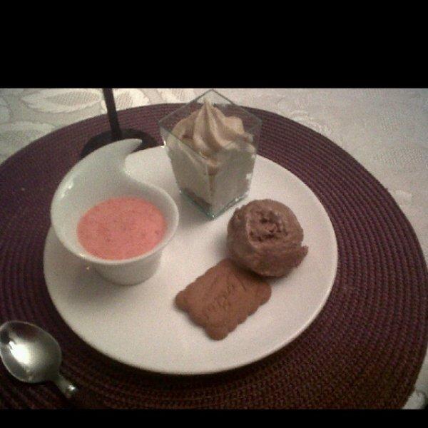 dessert aux 3 saveurs