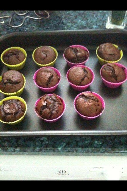muffin choco coeur fondant choco