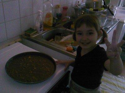 lily est ses gâteaux au chocolat