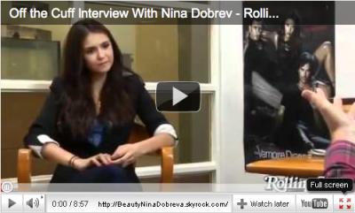 Nina accorde une interview à Peter Travers, du magazine Rolling Stone.