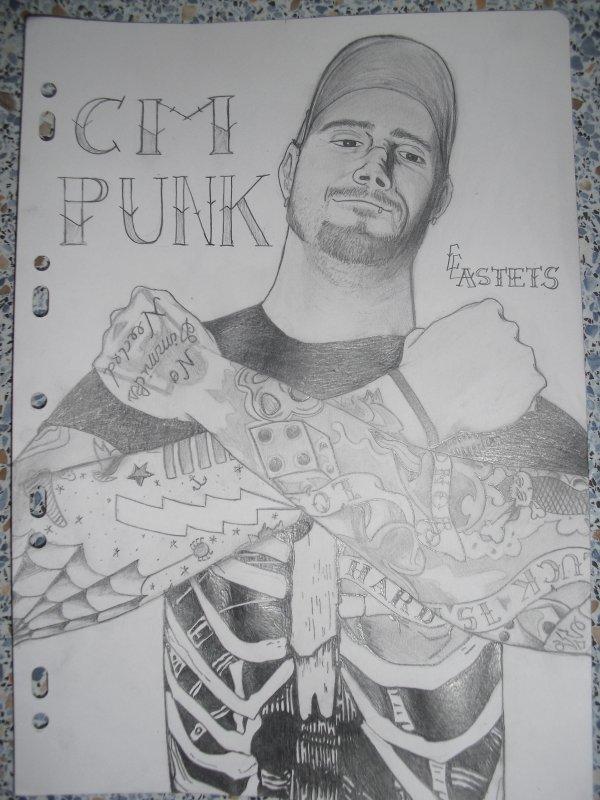 CM Punk avec ses tatouage ses vraiment tro la classe !!!!!!!!!