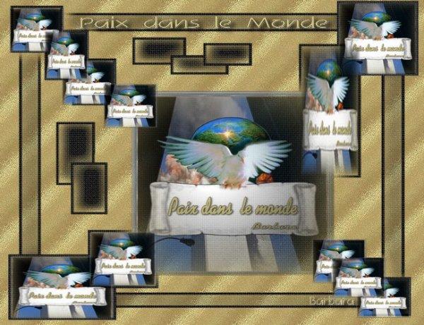 PAIX DANS LE MONDE...