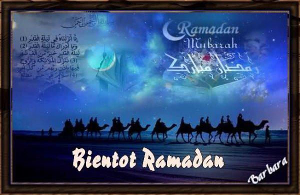 Bientôt c'est le ramadan.