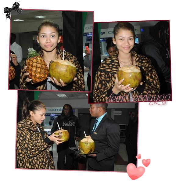 LE 30/01  - Zendaya a été vu à l'aéroport en Jamaïque !! Elle s'est rendu au Youth View Awards pré-party à Kingston !!