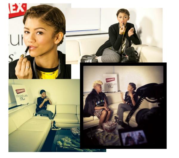 LE 12/02 - Zendaya s'est rendue au Betsey Johnson Fashion Show toujours à New York ainsi qu'au Jeremy Scott show !!