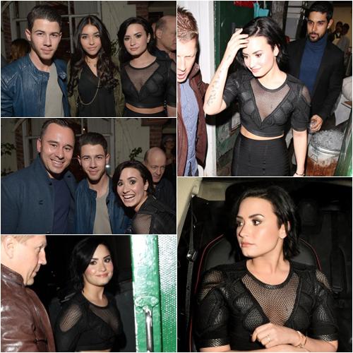 LE 20/01 - Demi et Wilmer sont aller à une fête organisée par Nick Jonas à Los Angeles!