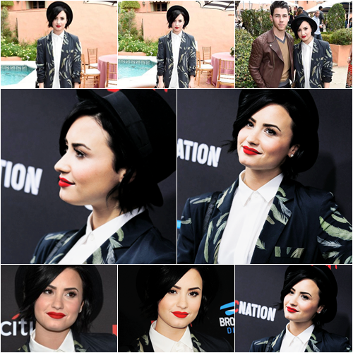 LE 07/02 - Demi est allée au Roc Nation and Three Six Zero Pre-GRAMMY Brunch à Beverly Hills!