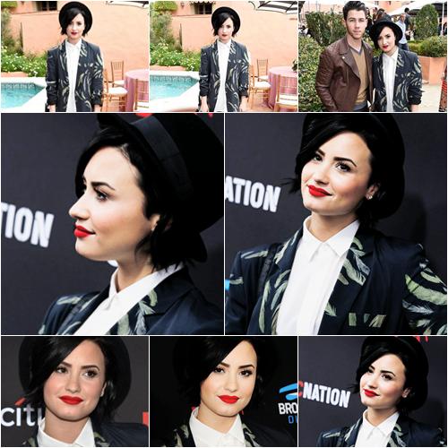 LE 07/02 - Demi est allée au Roc Nation and Three Six Zero Pre-GRAMMY Brunch à Beverly Hills!