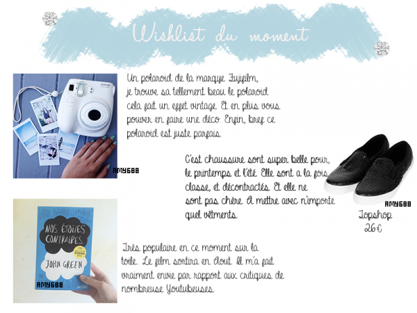 Wishlist du moment