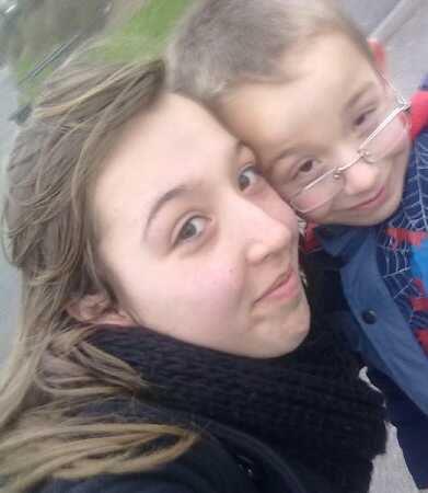 Moi et mon tit frère <3