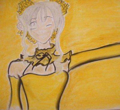 Personnage De Manga Version Jaune